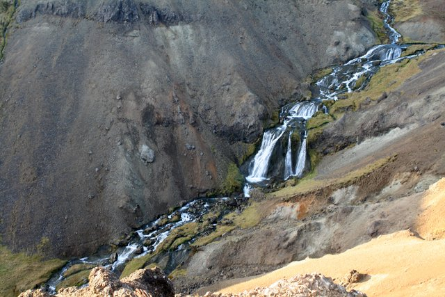 Djúpagilsfossar waterfalls.